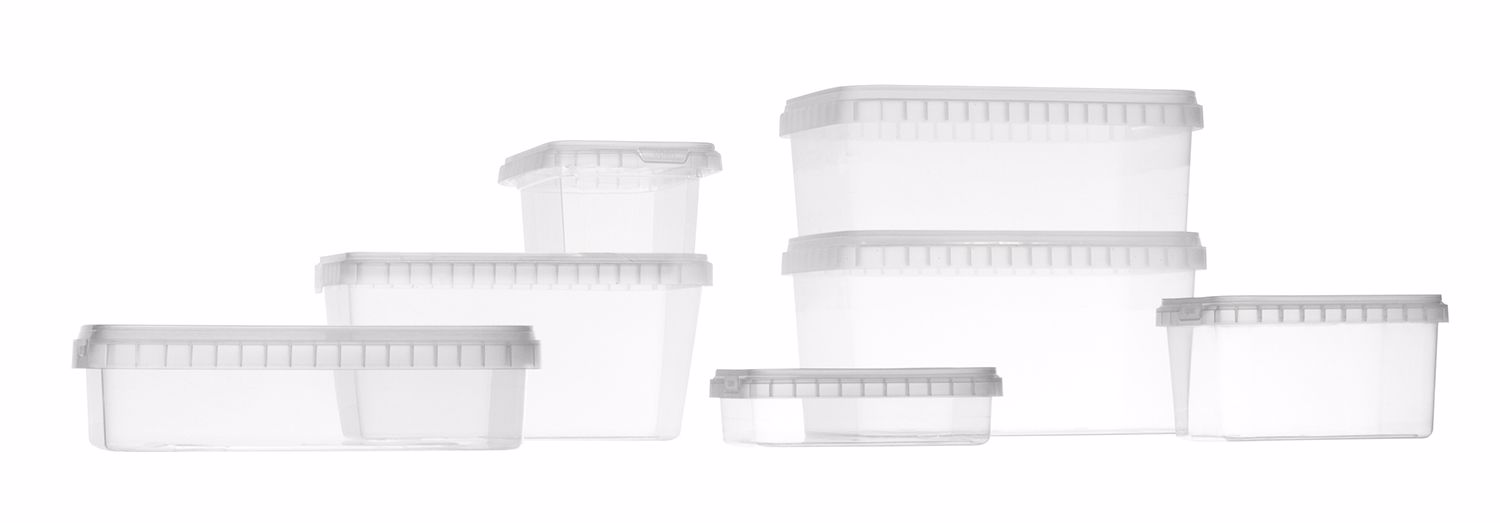DECA TPR Rectangular containers with safety closure